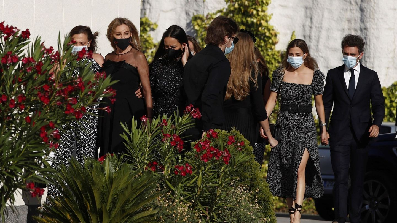 Ana Obregón, a su llegada al funeral de su hijo. (EFE)