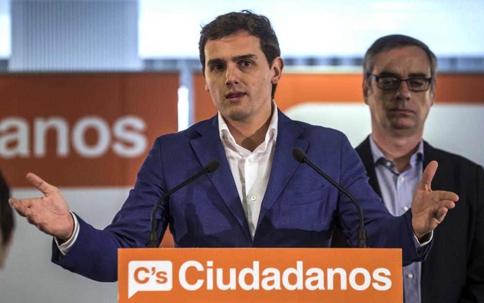 Foto: El presidente de Ciudadanos (C's), Albert Rivera este lunes (Efe)