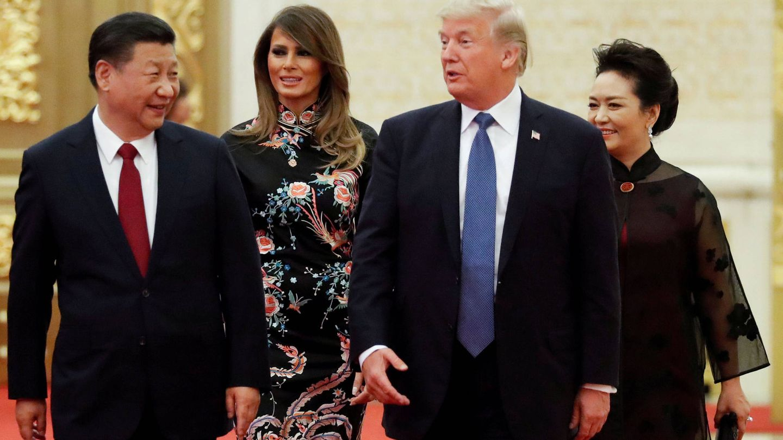 Xi Jinping, Peng Liyuan, Melania y Donald Trump. (Reuters)