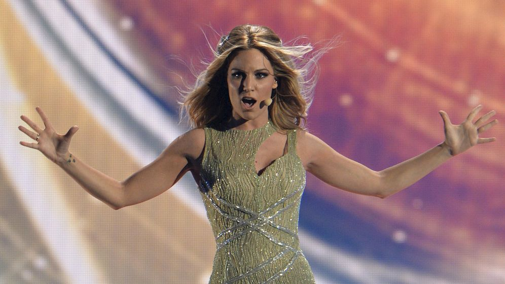Foto: Edurne durante su actuación en 'Eurovisión 2015'.