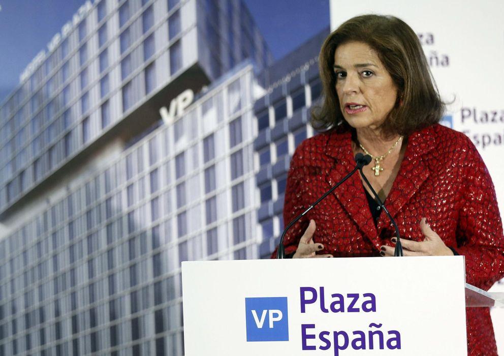 Foto: La alcaldesa de Madrid, Ana Botella, durante la presentación del Hotel VP Plaza de España. (EFE)