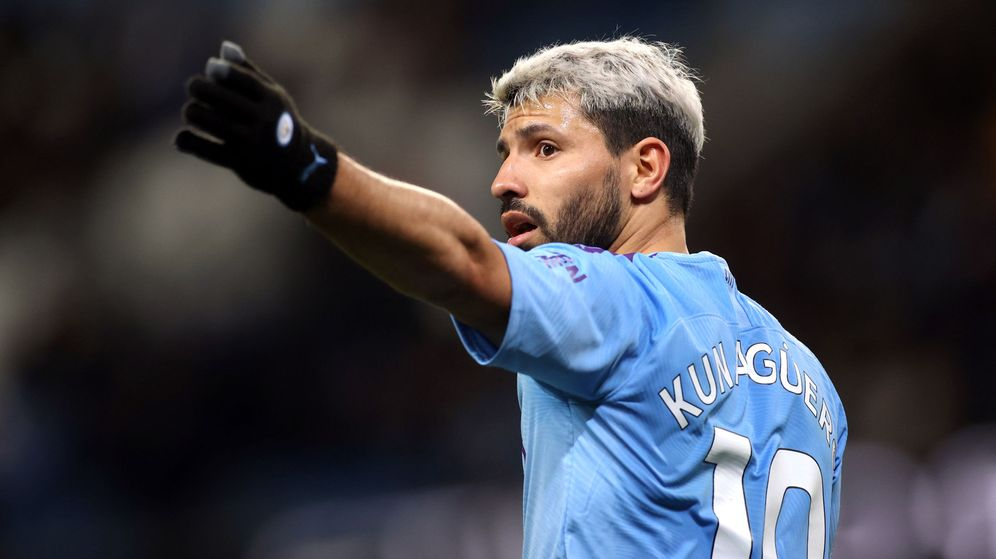 Foto: Kun Agüero, jugador del Manchester City, durante un partido de la Premier este curso. (Reuters)