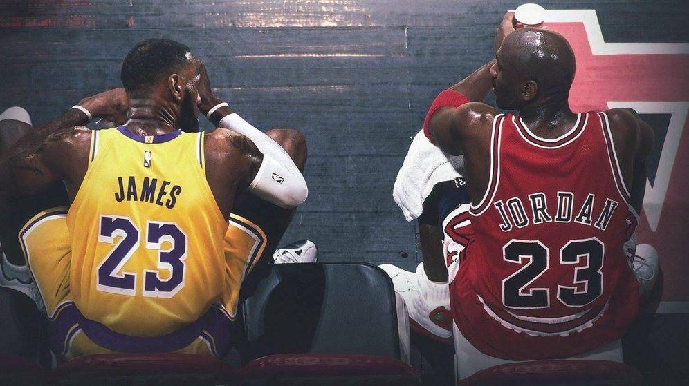Foto: James y Jordan conversan en una fotografía que nunca existió.