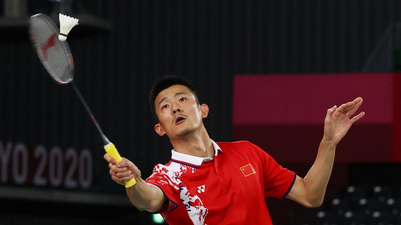 Chen Long, vigente campeón olímpico, en el partido contra Pablo Abián. (Reuters)