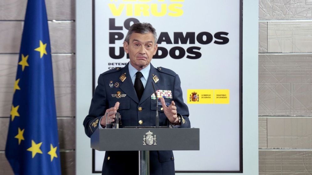 Foto: Miguel Ángel Villarroya, jefe del Estado Mayor de la Defensa. (EFE)
