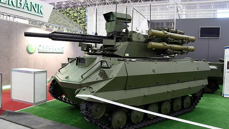 Uran-9, un tanque robótico ruso (Fuente: Wikimedia Commons)
