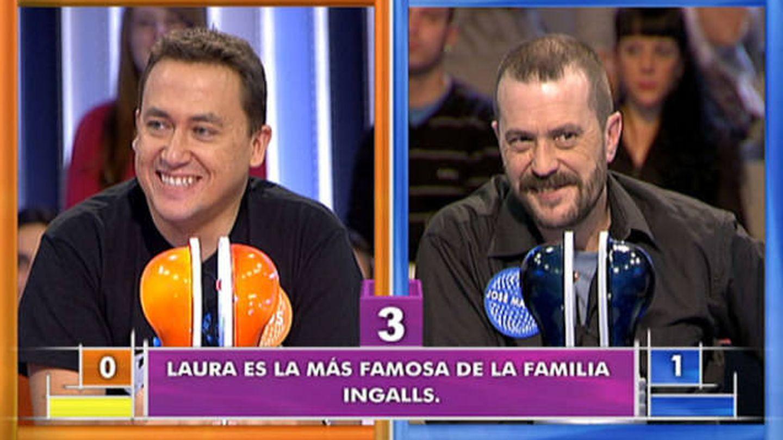 Carlos y José Manuel Lúcia, en la 'lucha de campeones' de 'Pasapalabra'. (Mediaset)