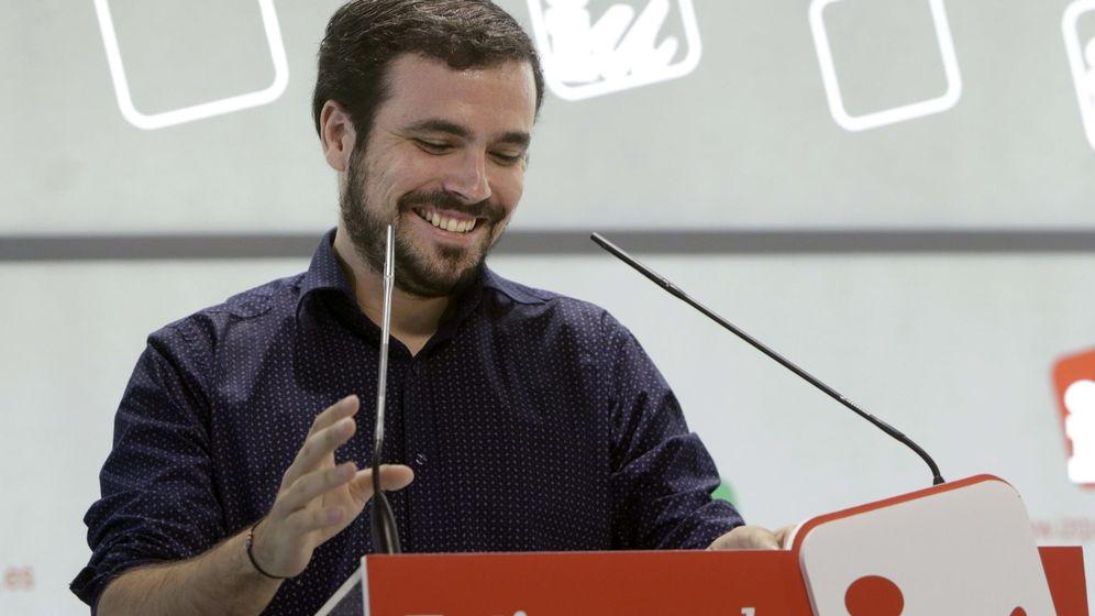 Foto: Alberto Garzón, durante su intervención ante la Presidencia Federal de IU de este 13 de septiembre. (EFE)