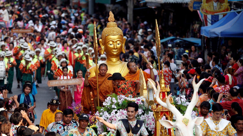 Desfile del Año Nuevo tailandés, en Bangkok, el 22 de abril de 2018. (Reuters)