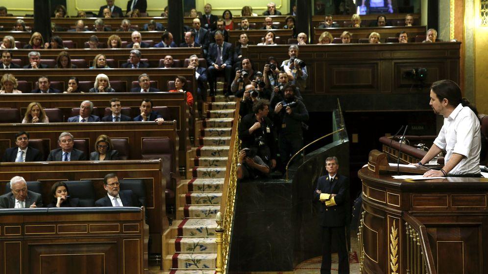 Foto: Pablo Iglesias durante su discurso. (Efe)