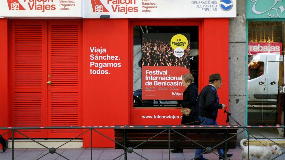 El PSOE recurre la campaña Falcon Viajes del PP