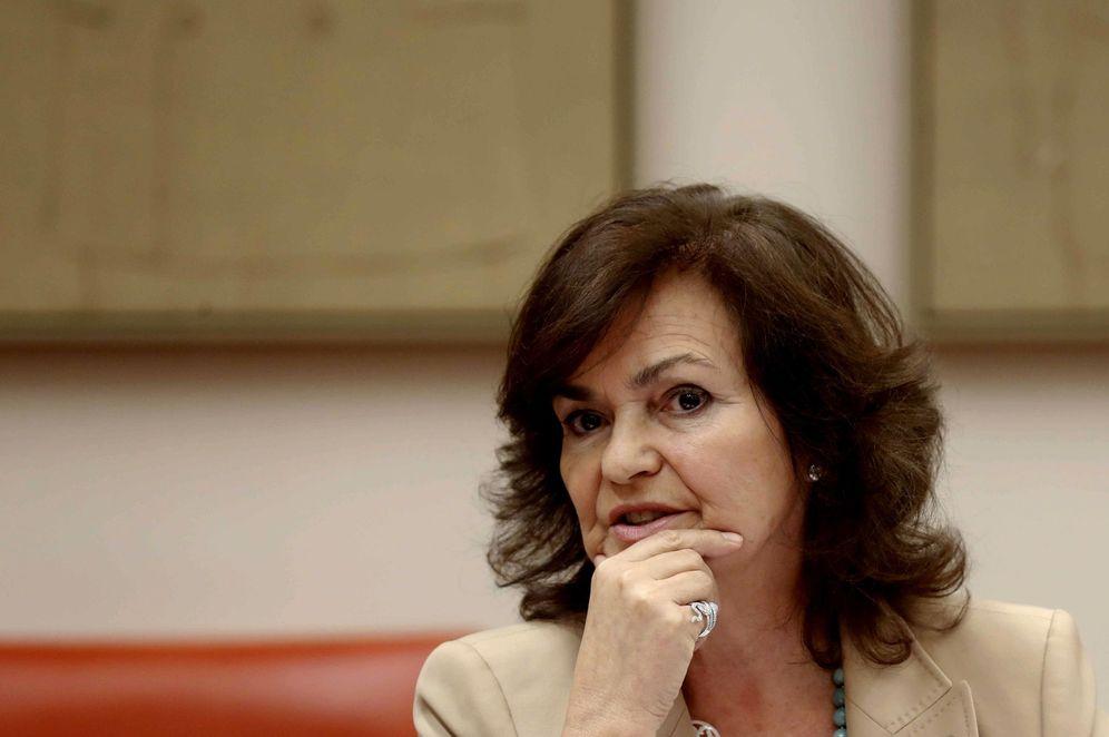Foto: La vicepresidenta del Gobierno, Carmen Calvo, el pasado 30 de agosto en el Congreso. (EFE)