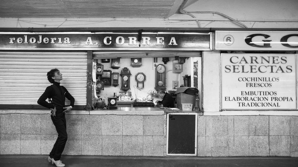 Foto: Tomasito en el Mercado de la cebada de Madrid. (Naemi Ueta)