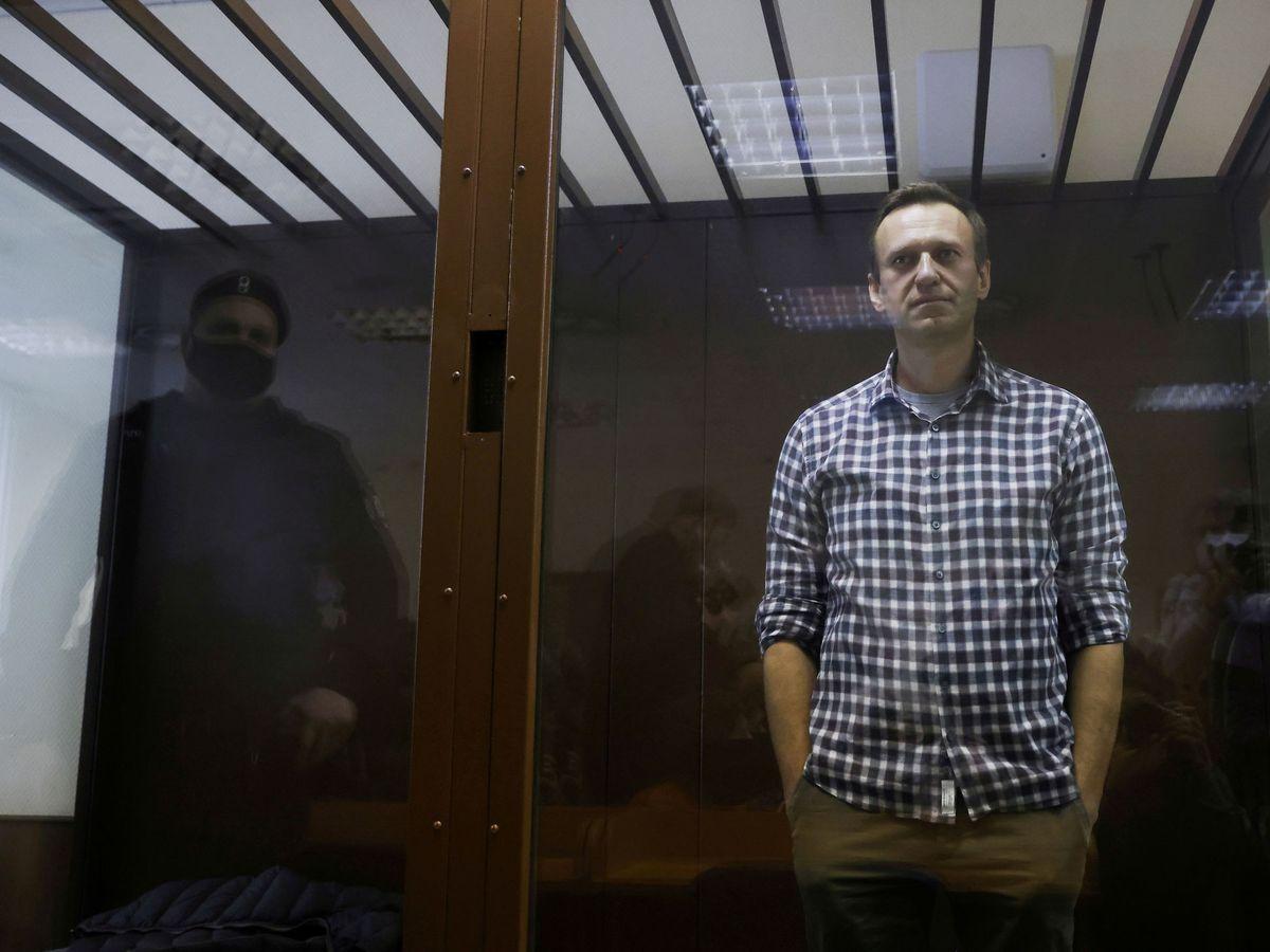 Foto: El opositor ruso Alekséi Navalni durante una sesión en la corte de apelaciones. (Reuters)