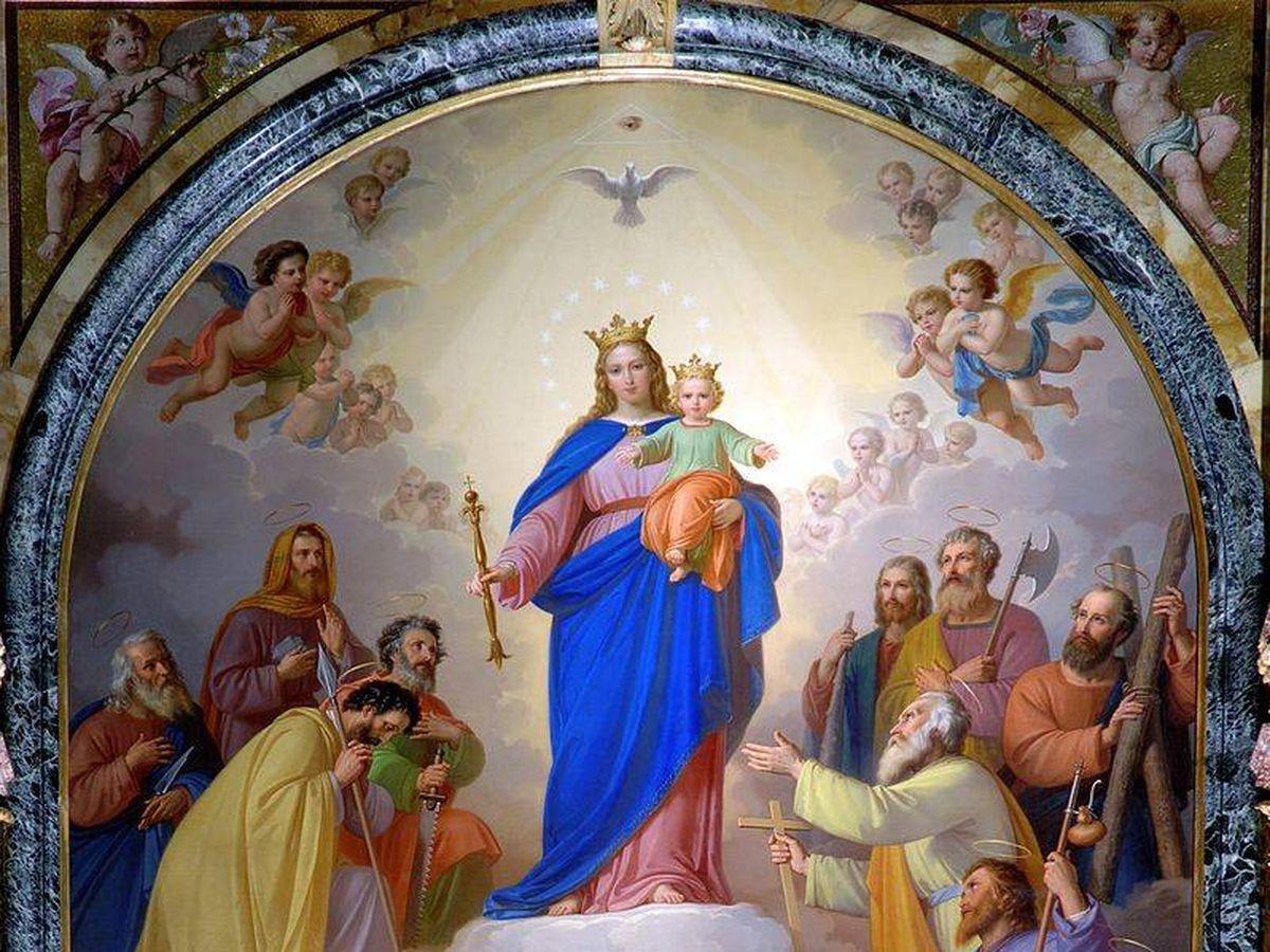 Foto: Representación de María Auxiliadora, de Tommaso Andrea Lorenzone (C.C.)