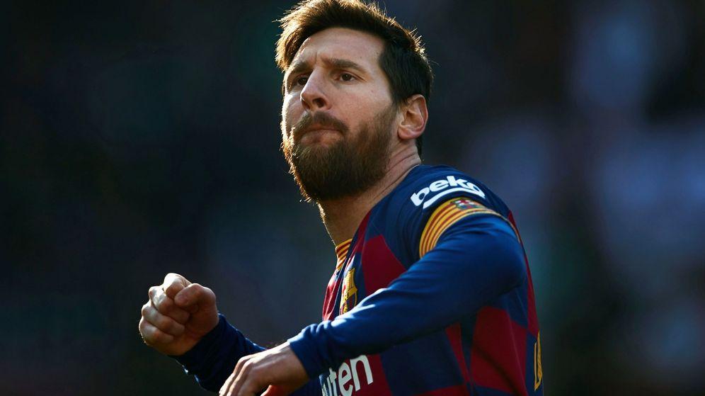 Foto: Leo Messi celebra con rabia un gol en el partido contra el Eibar en el Camp Nou. (Efe)