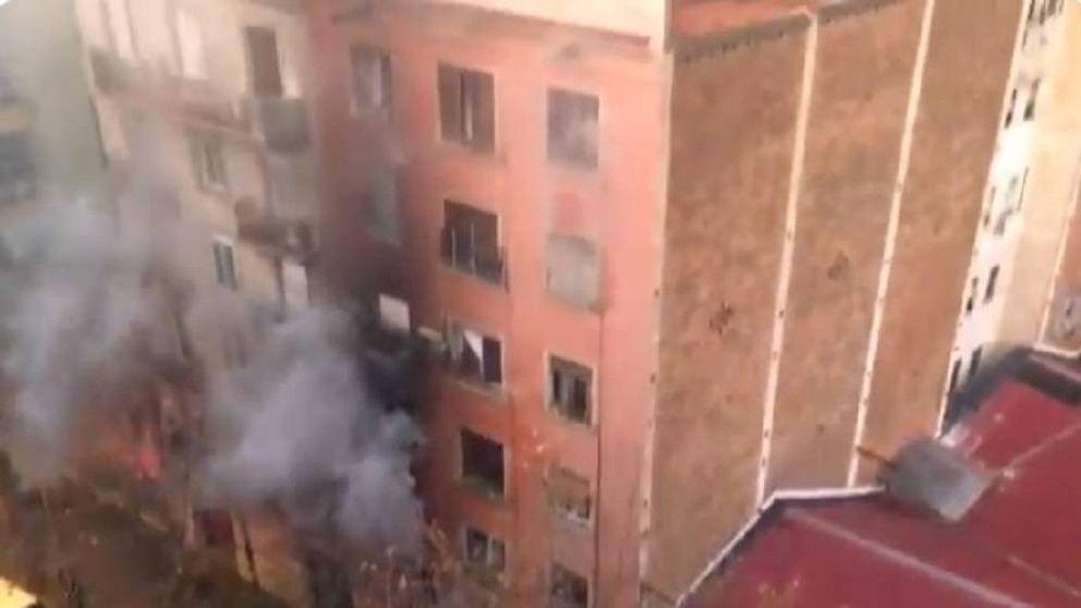 14 heridos, uno de ellos grave, en un incendio en Barcelona, cerca de la Sagrada Familia