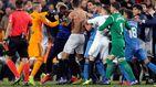 Cuatro jugadores y un fisio sancionados por la tangana del Valencia-Getafe