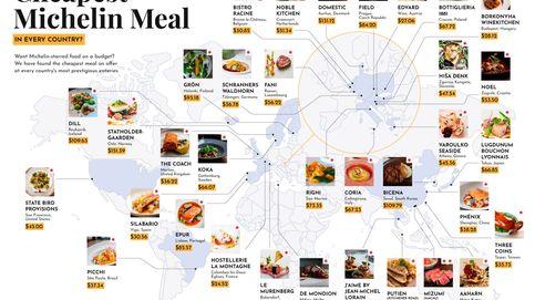 Los restaurantes más baratos del mundo con estrella Michelin (uno está en España)