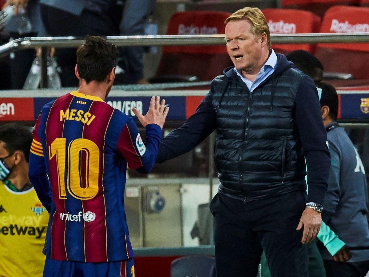 Foto: Messi y Koeman, en una imagen reciente. (EFE)