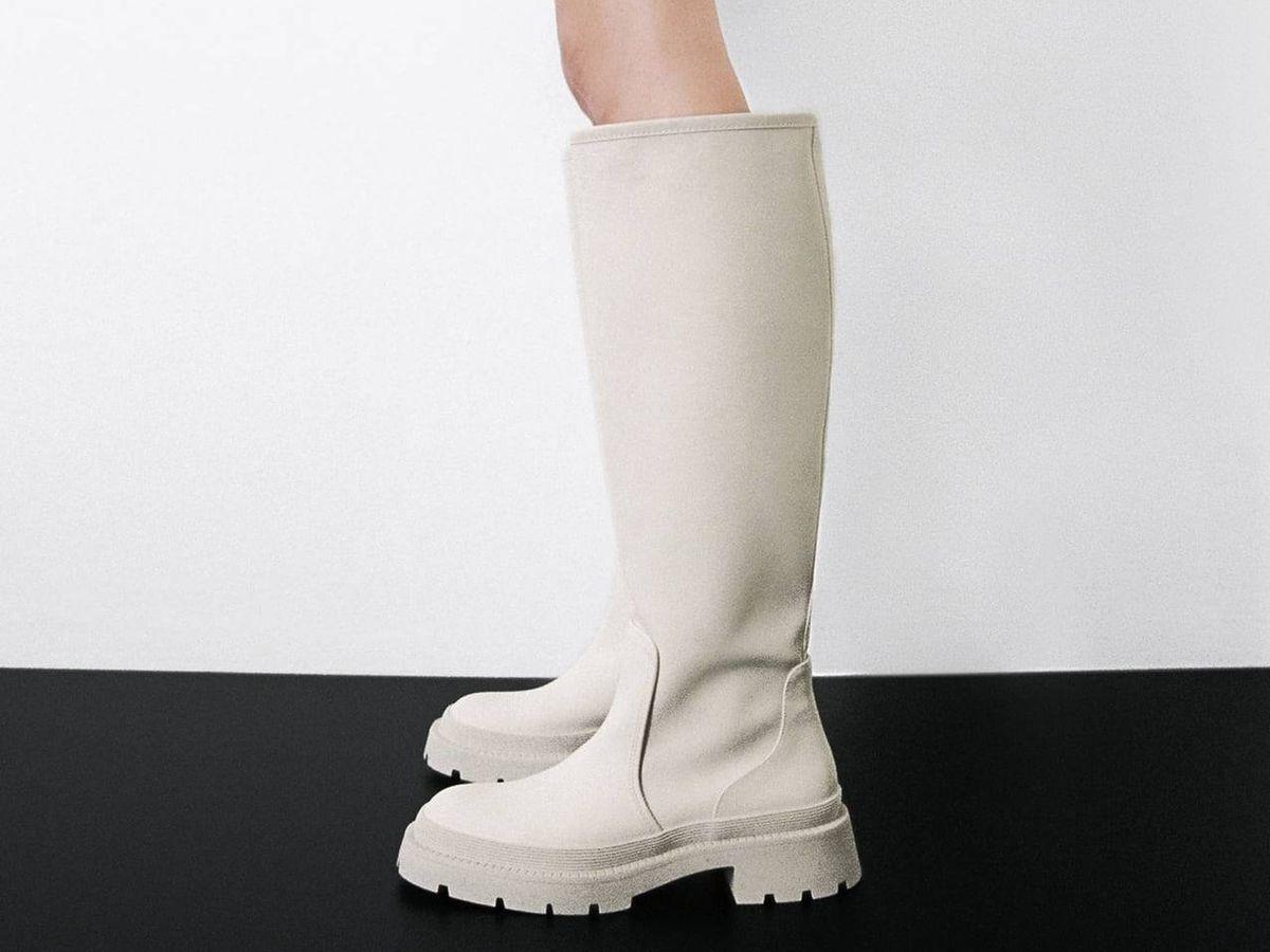 Foto: Botas blancas de Zara. (Cortesía)