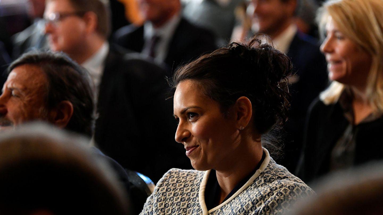La parlamentaria euroescéptica Priti Patel, durante la presentación de un plan comercial para un Reino Unido pos-Brexit, en septiembre de 2018. (Reuters)