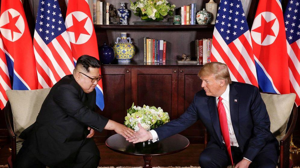 Foto: Kim Jong-un y Donald Trump, en Singapur | Reuters