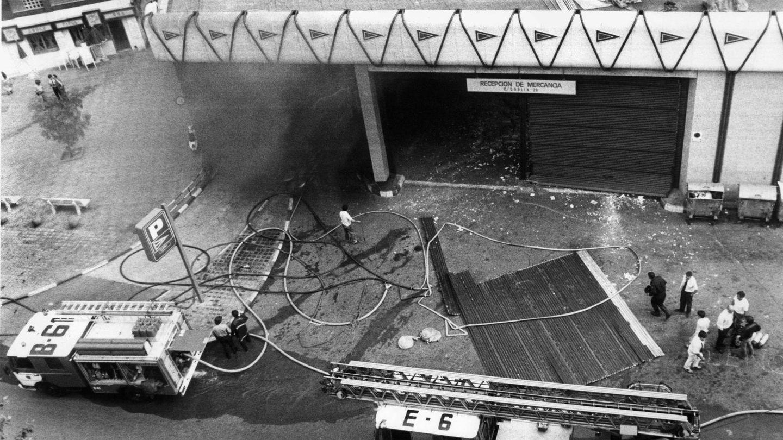 Fotografía de archivo del exterior del aparcamiento del centro comercial Hipercor de Barcelona. (EFE)