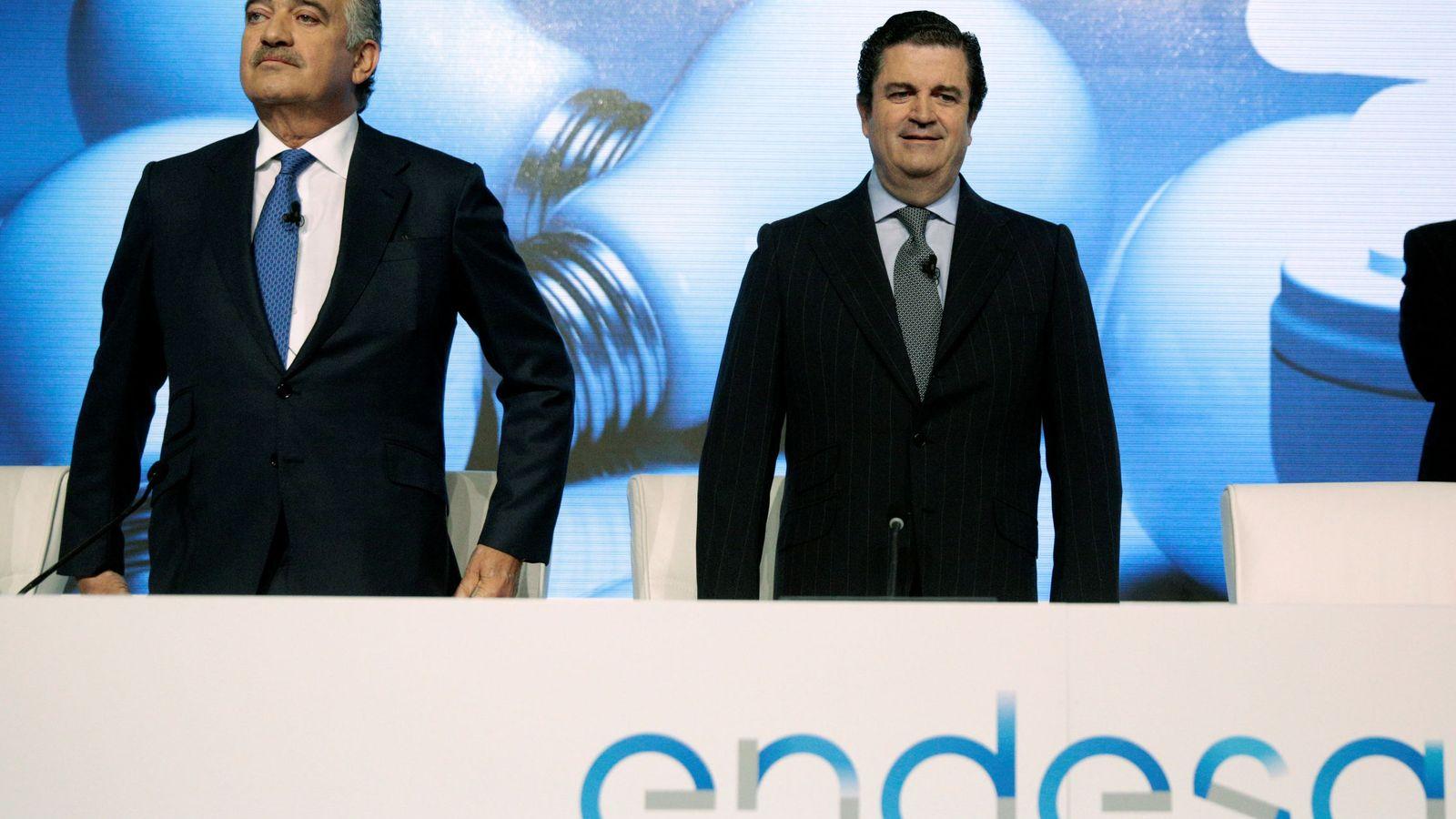 Foto: El consejero delegado de Endesa, José Bogas (izq.), junto al presidente, Borja Prado (dcha).