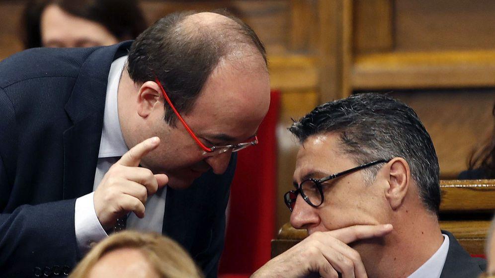 Foto: Xavier García Albiol y Miquel Iceta en el Parlament. (EFE)