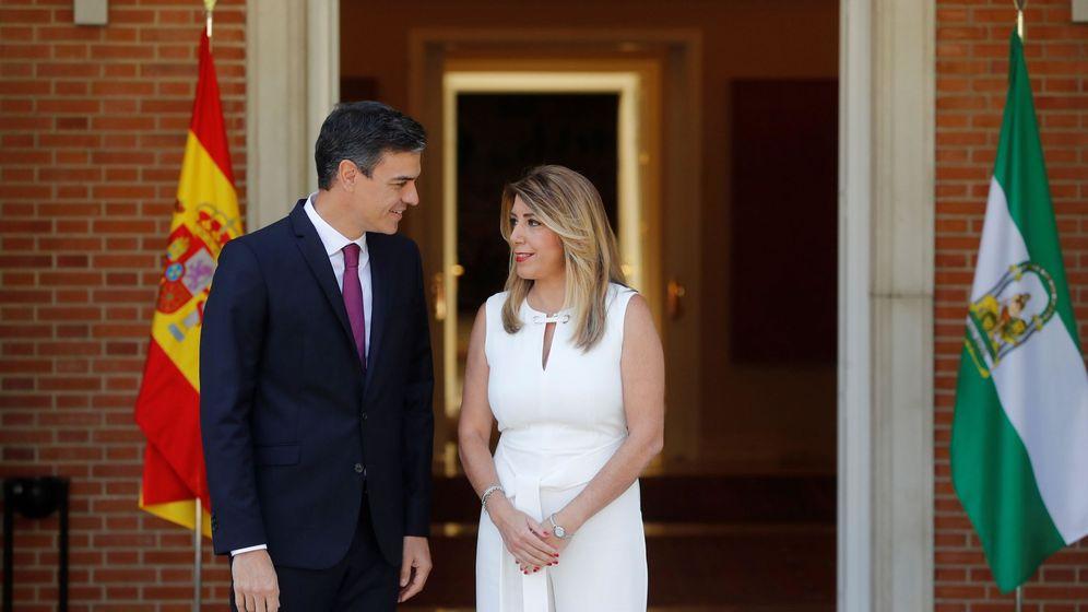 Foto: El presidente del Gobierno, Pedro Sánchez, y la presidenta de la Junta de Andalucía, Susana Díaz, el pasado 23 de julio en La Moncloa. (EFE)