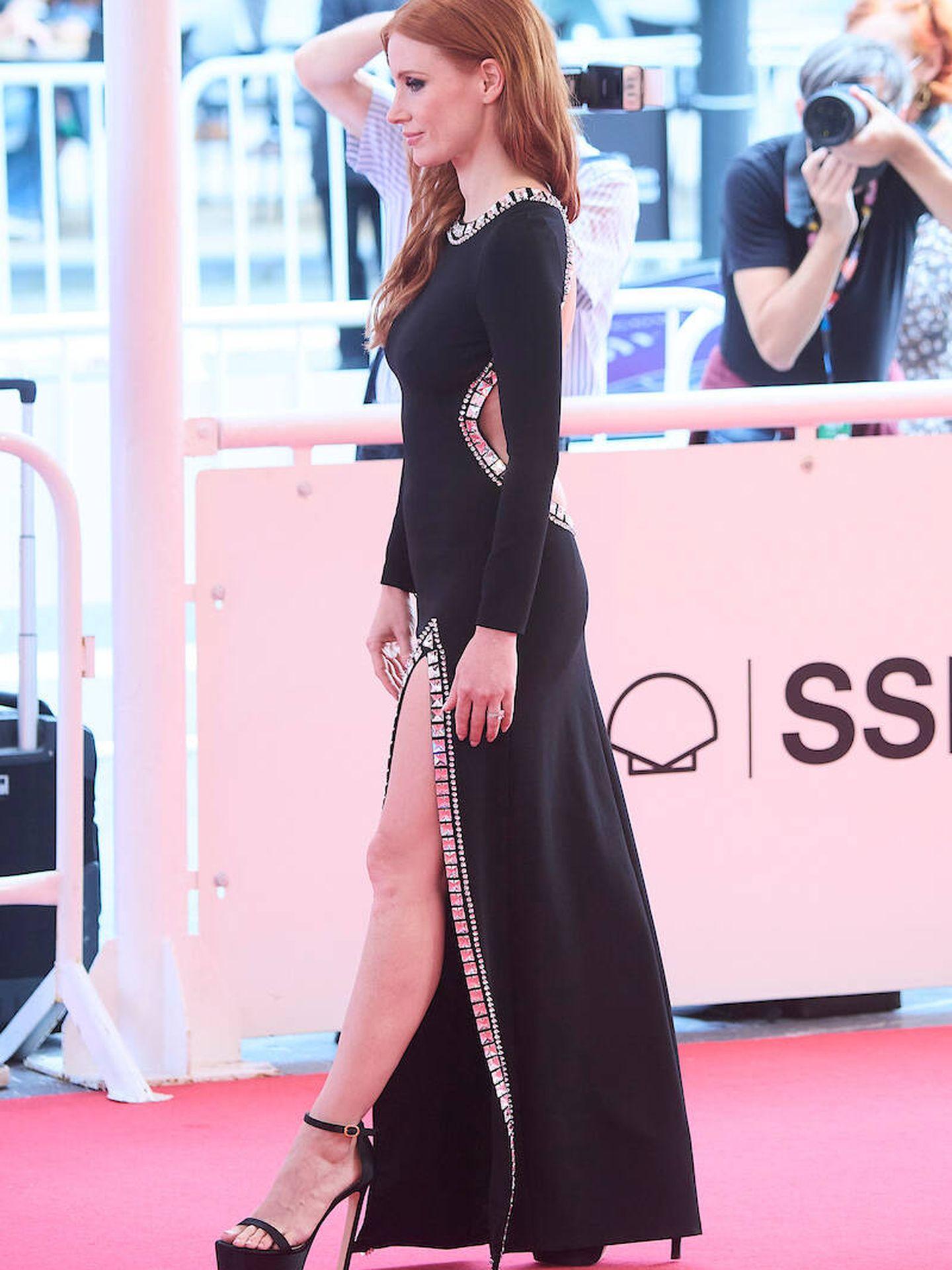 Jessica Chastain en San Sebastián. (LP)