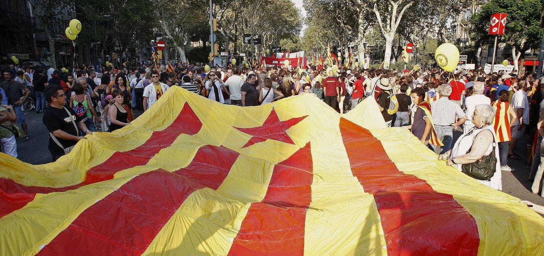 Manifestación de la Diada el once de Septiembre de 2012. (EFE)