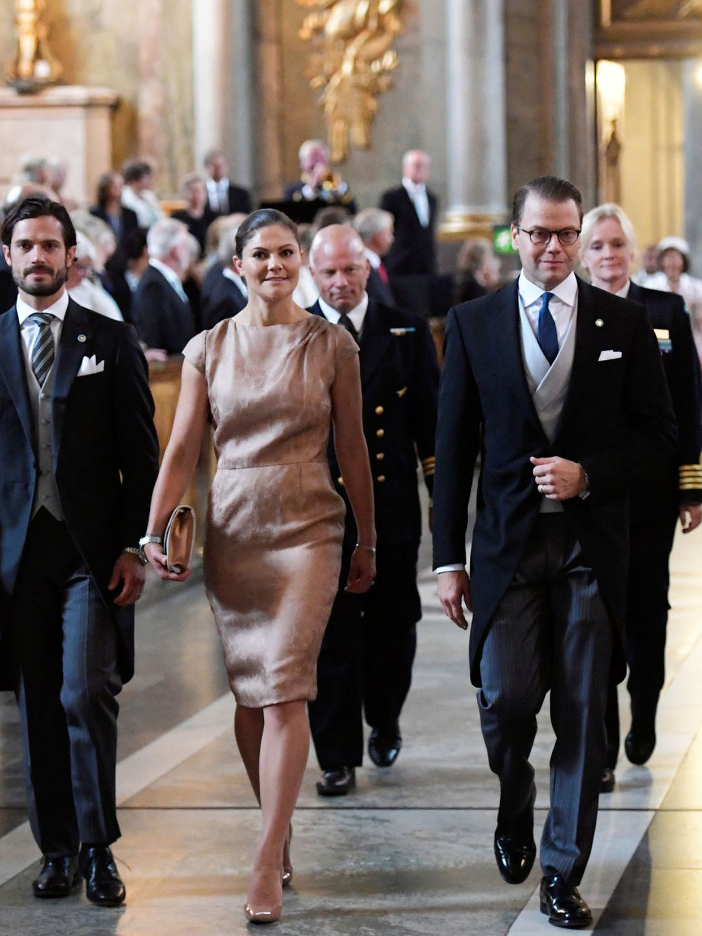 Prince Carl Philip, Crown Princess Victoria and Prince Daniel arrive for the Te Deum ceremony the Te Deum ceremony for the new born Prince Gabriel, son of Prince Carl Philip and Princess Sofia at the Royal Chapel in Stockholm, Sweden September 4, 2017 TT News Agency Anders Wiklund via REUTERS  ATTENTION EDITORS - THIS IMAGE WAS PROVIDED BY A THIRD PARTY. SWEDEN OUT. NO COMMERCIAL OR EDITORIAL SALES IN SWEDEN
