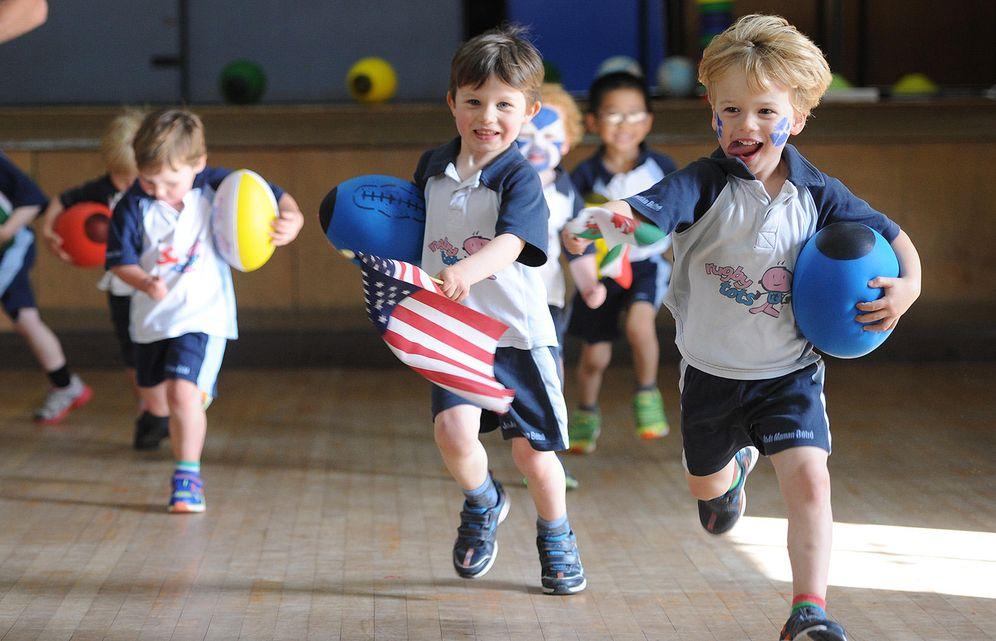Foto: Niños de Rugbytots en otros países.