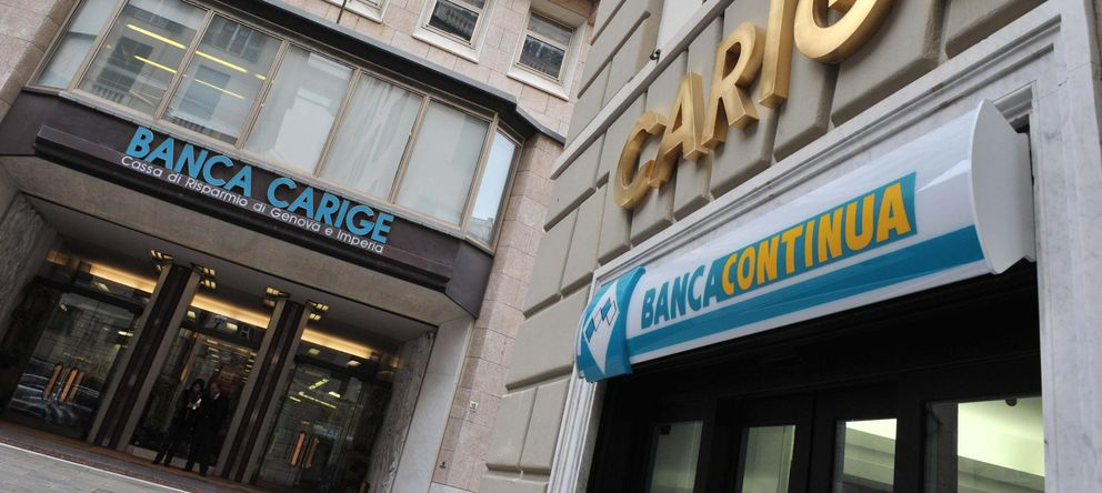 Foto: Fachada de Banca Carige en Génova (EPA)