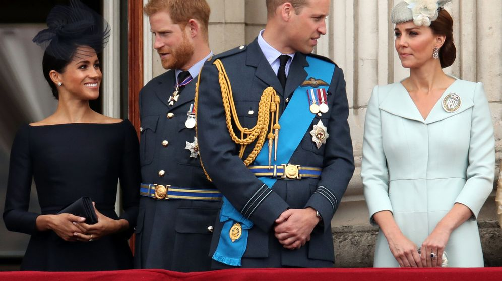 Foto: Los duques de Sussex y los duques de Cambridge. (Reuters)
