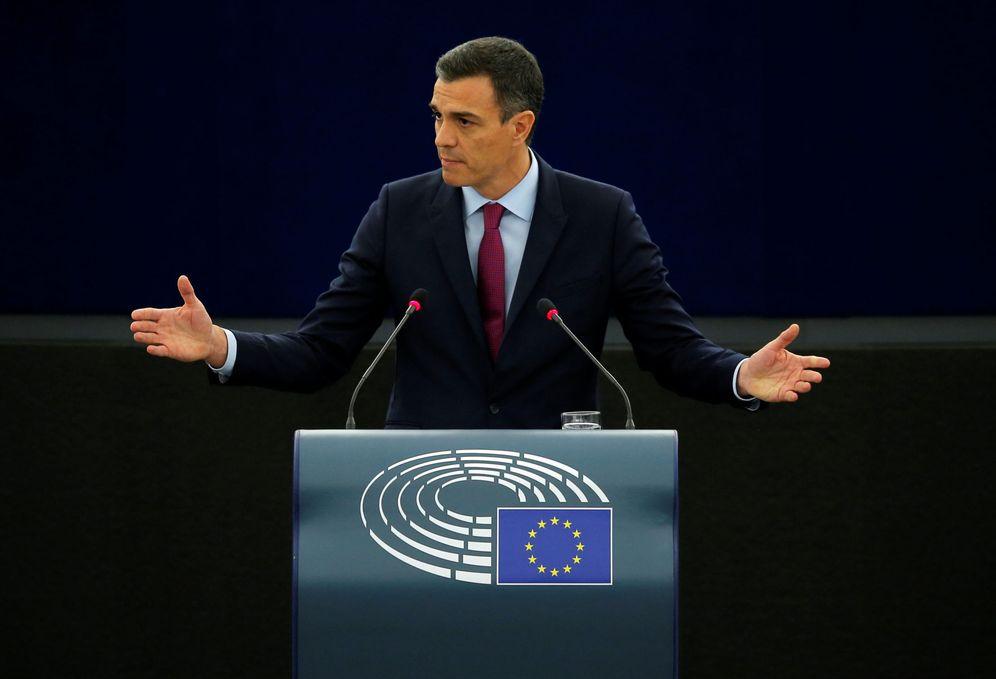 Foto: Pedro Sánchez, el pasado 16 de enero en el pleno del Parlamento Europeo, en Estrasburgo. (Reuters)