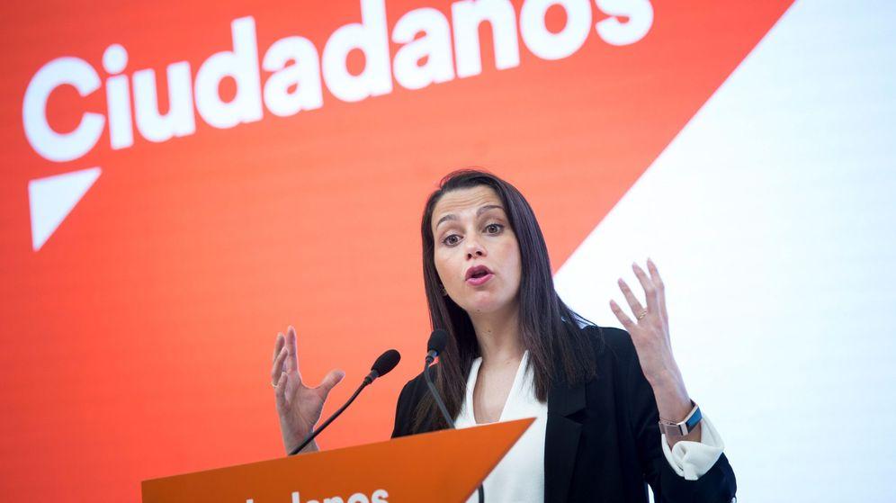 Foto: La líder de Ciudadanos, Inés Arrimadas, en un acto del partido. (EFE)