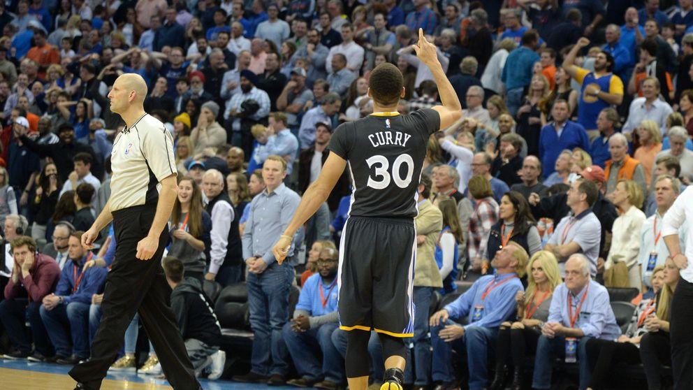 Stephen Curry iguala el récord de triples de la NBA en una noche mágica