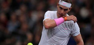 Post de Una inoportuna lesión en el abdomen aparta a Rafa Nadal del sueño en el Masters de París