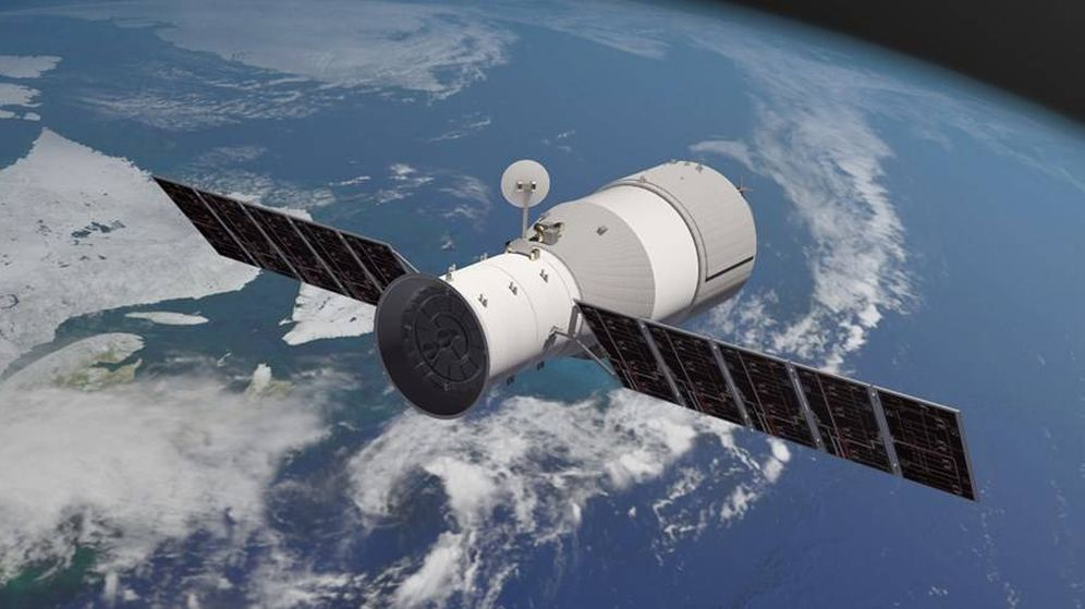 Foto: La estación espacial Tiangong-1 (The Aerospace Corporation)