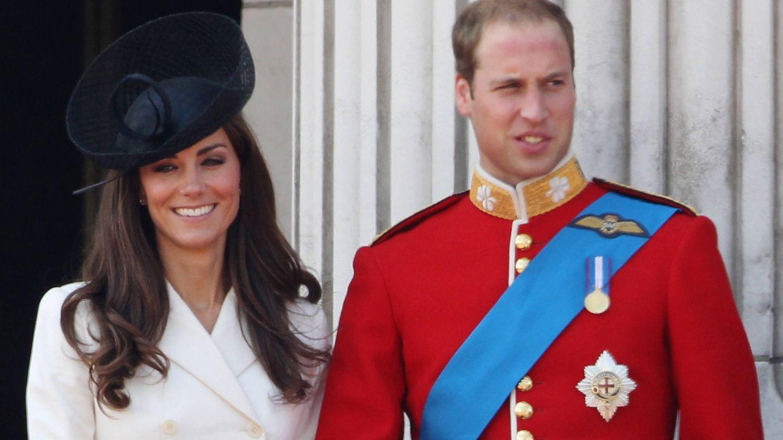 Kate Middleton, junto al príncipe Guillermo en el Trooping The Colour de 2011. (Getty)