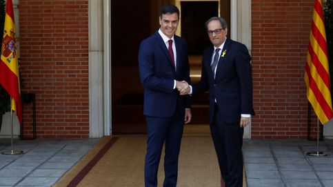 La reunión entre Sánchez y Torra, en imágenes