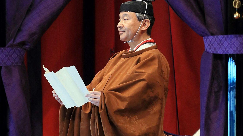 El emperador Naruhito, durante su discurso. (EFE)