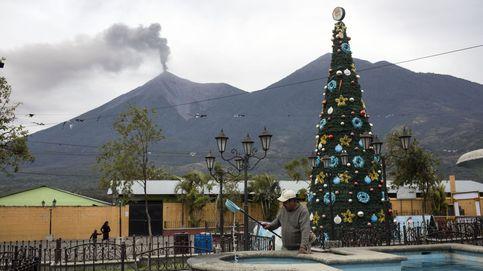 Erupción del volcán de fuego en Guatemala