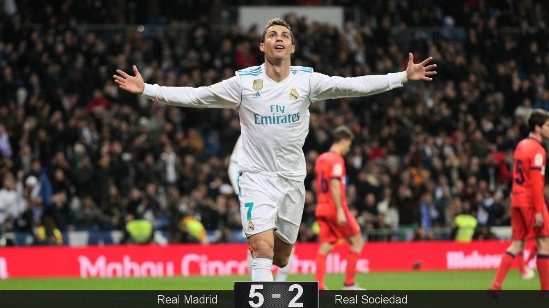 Foto: Cristiano celebra uno de sus tres tantos. (Reuters)