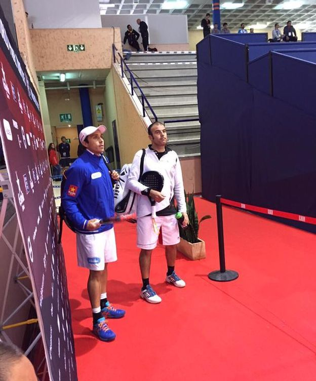Foto: Belasteguin y Lahoz, antes de debutar (Foto: WPT)