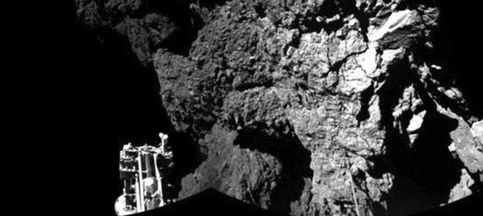 Foto: Philae sobre el cometa. (Reuters)