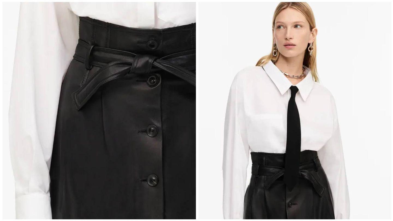 Falda y camisa de la nueva colección de Zara. (Cortesía)